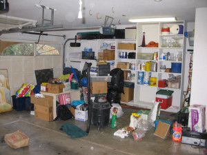 Garage before help from Organizers NW